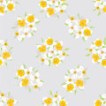Seamless pattern with flowers daffodils Royalty Free Stock Photo