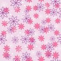 Seamless pattern with flowers flower in pink and violet colors Royalty Free Stock Image
