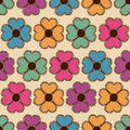 Seamless pattern of flowers funny colorful Royalty Free Stock Image