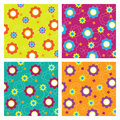Seamless pattern with flowers illustration Royalty Free Stock Images