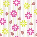Seamless pattern with flowers illustration Stock Photo