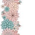Seamless pattern of flowers and insects vector illustration Stock Photos