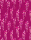 Seamless pattern with flowers iris, Print Stock Photo
