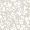 Seamless pattern with flowers and leaves. Floral ornament. Paste Royalty Free Stock Photo