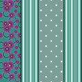 Seamless pattern with flowers, ornament stylish texture backgroundvertical lines, drawing