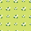 Seamless pattern with flowers. Pretty floral background print
