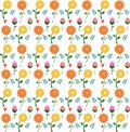 stock image of  Seamless pattern of flowers