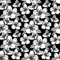 Seamless pattern with flowers stock vector illustration