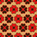 Seamless pattern of flowers vintage red brown Stock Photography