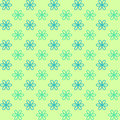 Seamless pattern. Fond green and blue colors. Endless texture can be used for printing onto fabric and paper or invitation.