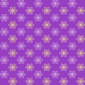 Seamless pattern fond purple and yellow colors endless texture can be used for printing onto fabric paper or invitation simple Royalty Free Stock Photo