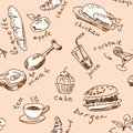 Seamless pattern with food vector Stock Photos