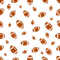 Seamless pattern with football Royalty Free Stock Photo