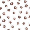 Seamless pattern with footprint of cat and dog