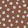 Cats or dogs paw prints seamless pattern