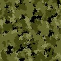 Seamless pattern with forest camouflage colors