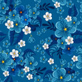 Seamless pattern with forget-me-not Royalty Free Stock Image