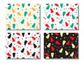 Seamless pattern in four colors