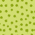 seamless pattern with four-leaf clover Royalty Free Stock Photo