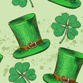 Seamless pattern four leaf clover, luck, or St. Royalty Free Stock Photo