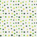 Seamless pattern with four leaf clovers for Saint Patrick`s Day.
