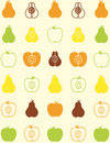 Seamless pattern of fruit Royalty Free Stock Photo