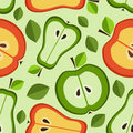 Seamless pattern of fruit Stock Images