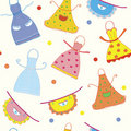 Seamless pattern with funny aprons Stock Photo