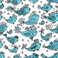 Seamless pattern with funny fishes for your design Royalty Free Stock Photography