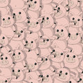 Seamless pattern with funny pigs design Royalty Free Stock Photos