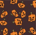 Pattern of pumpkins for Halloween, the day of all the saints. Royalty Free Stock Photo