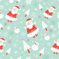 Seamless pattern funny santa claus Royalty Free Stock Image