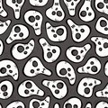 Seamless pattern with funny skulls eps illustration Stock Image