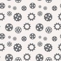Seamless pattern of gears. Vector