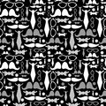 Seamless pattern with gentleman s accessories fashion Royalty Free Stock Image