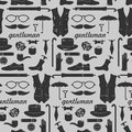 Seamless pattern for gentlemen with various elements Royalty Free Stock Photography