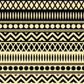 Seamless pattern geometric ancient patterns set Royalty Free Stock Images