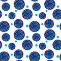 Seamless pattern of geometric circles on the background with crossing lines in the illustration Royalty Free Stock Photo