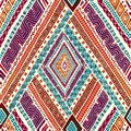 Seamless pattern with geometric elements. Stock Photos