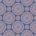 Seamless pattern with geometric figures. Repeated circles ornamental wallpaper. Abstract background with round vortexes.