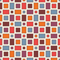 Seamless pattern with geometric figures. Repeated squares ornamental abstract background. Checkered wallpaper.