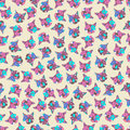 Seamless pattern geometric lines and triangles