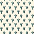 Seamless pattern with geometric ornament. Isometric islands wallpaper. Inverted pyramids motif. Repeated 3d figures