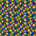 Seamless pattern with geometric ornament. Repeated color triangles abstract background. Mosaic wallpaper. Vector