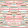 Seamless pattern geometric pattern fabric texture with Stock Photos