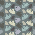 Seamless pattern of ghosts illustration Royalty Free Stock Photography
