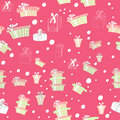 Seamless pattern with gifts Stock Photography