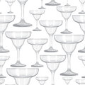 Seamless pattern with glasses Royalty Free Stock Photography