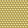 Seamless pattern glossy golden round scales Royalty Free Stock Photo