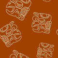 Seamless pattern with glyphs of the maya periods calendar names for your design Stock Images